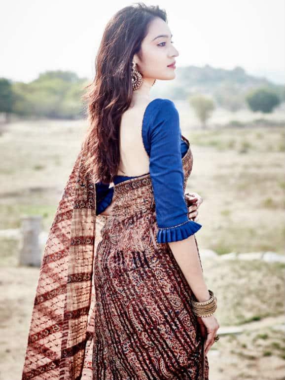 Handwoven Kalamkari Ahimsa Silk(Eri Silk) Saree