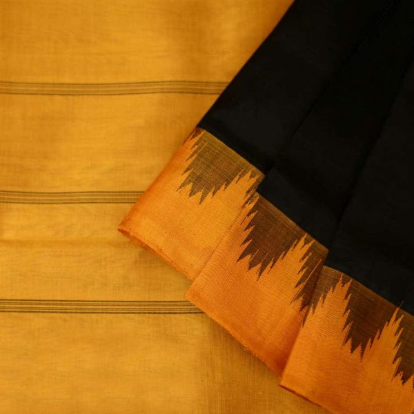 Handwoven silk-cotton saree