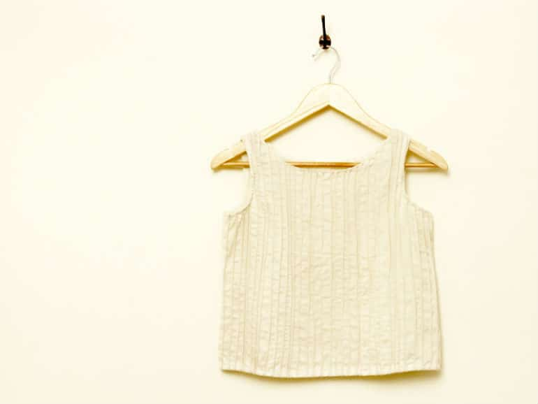 Handwoven modal-silk crop top
