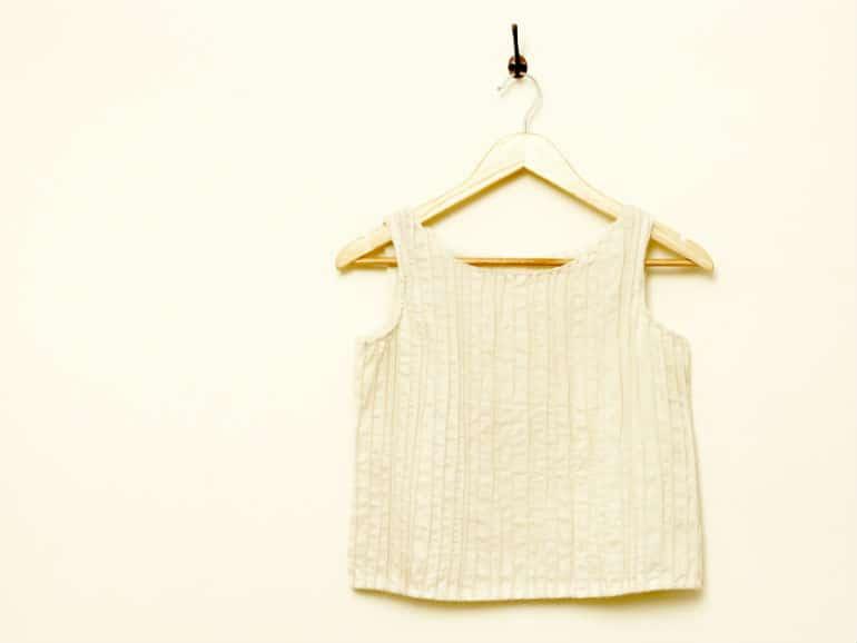 Handwoven modal-silk crop top